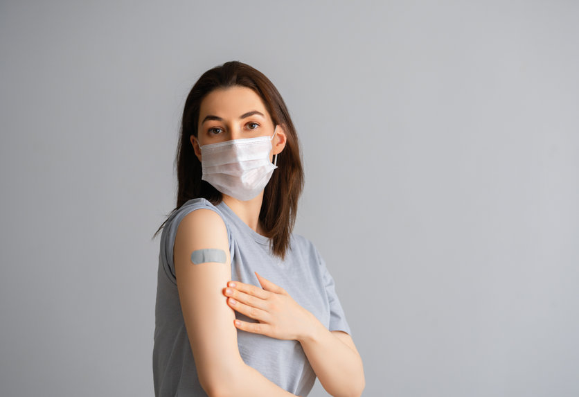 Woman after COVID-19 vaccination