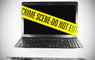 Laptop seized by police
